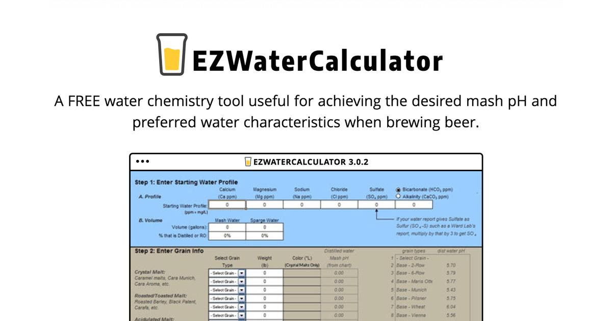 EZ Water Calculator